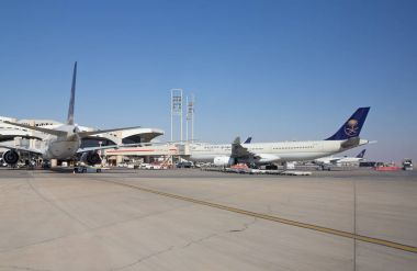 Planes at Riyadh King Khalid Airport