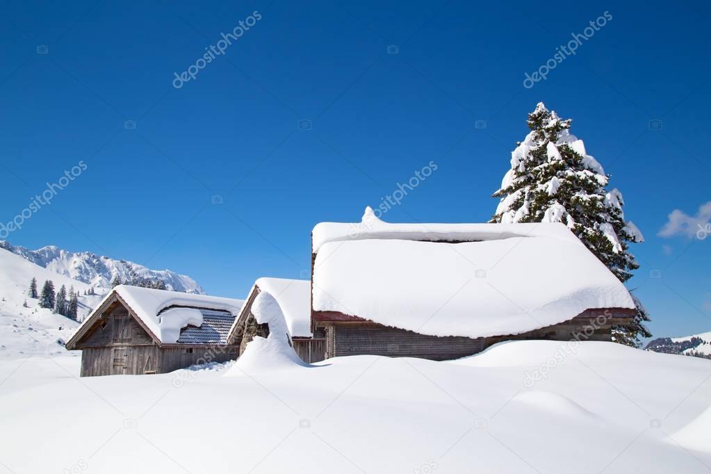 swiss alps near mount Santis