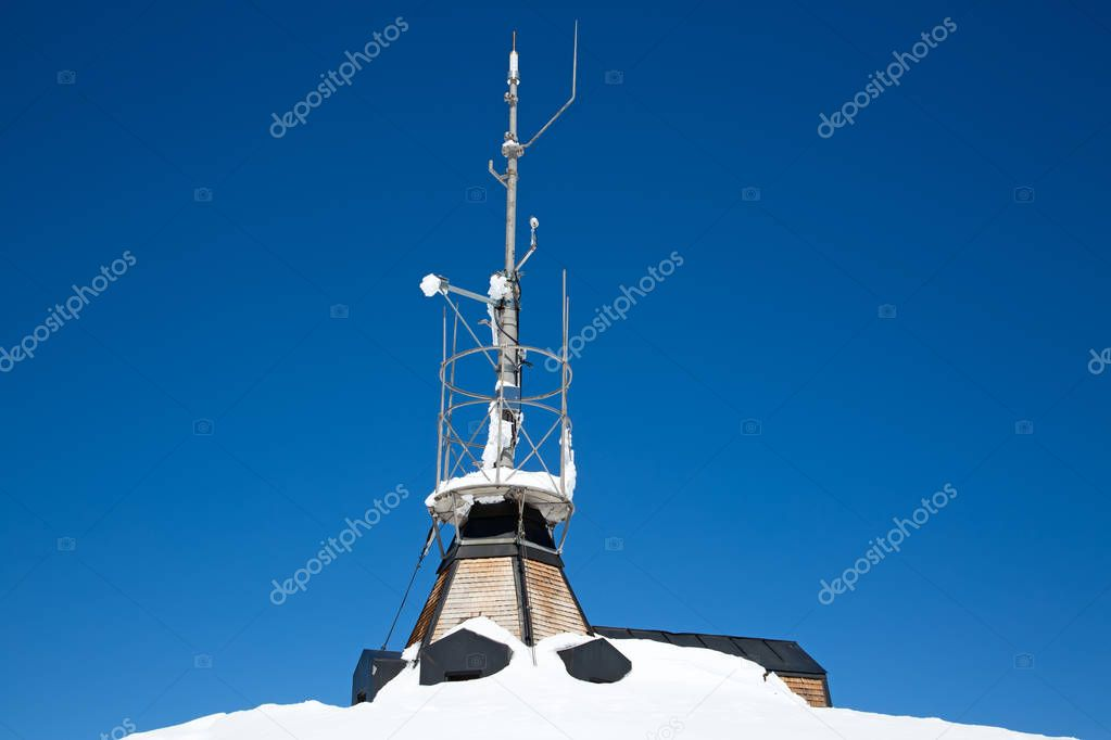 Weather station on top of mount