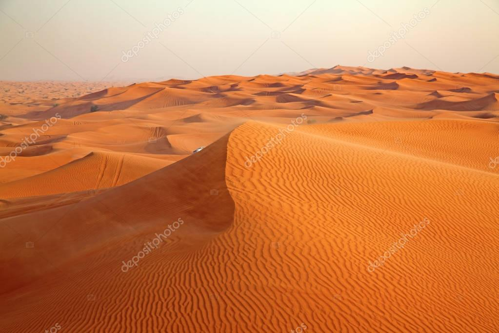 Red sand Arabian desert