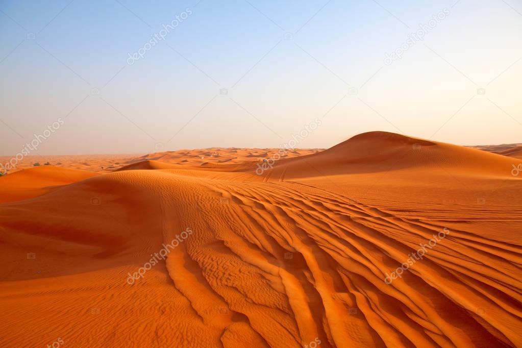 Red sand Arabian desert