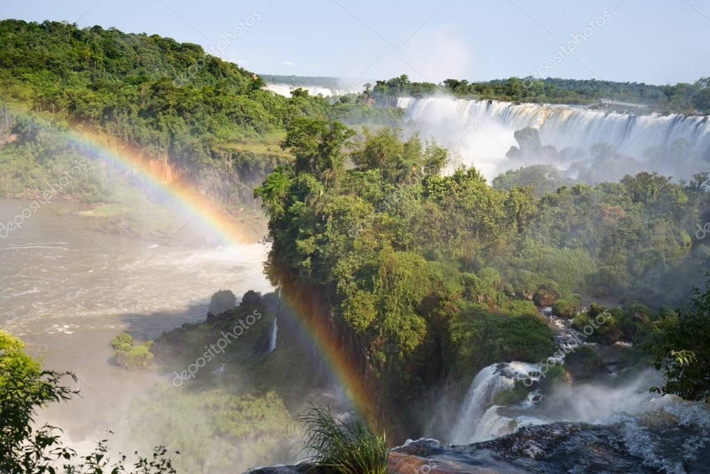 Famous Iguazu falls