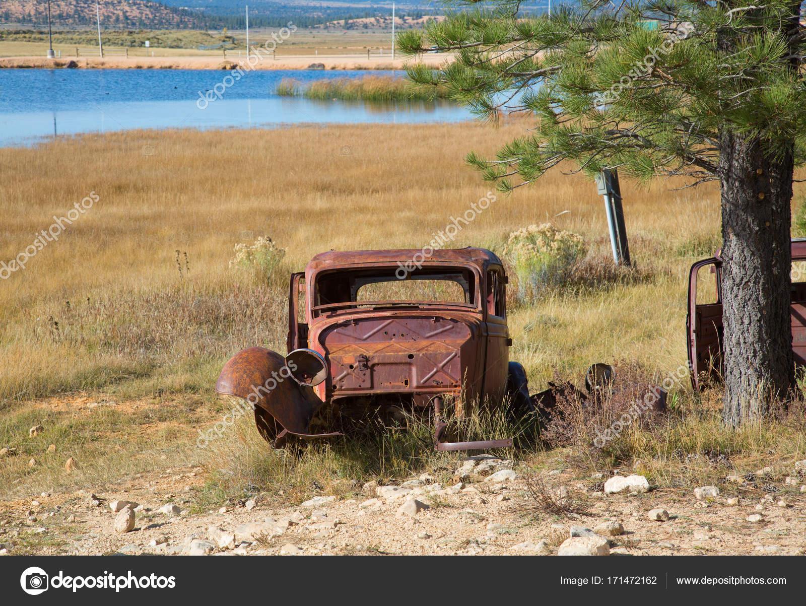 Abandond rusty wrecks — Stock Photo © swisshippo #171472162
