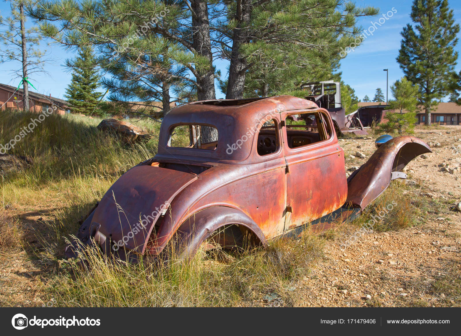 Abandond rusty wrecks — Stock Photo © swisshippo #171479406