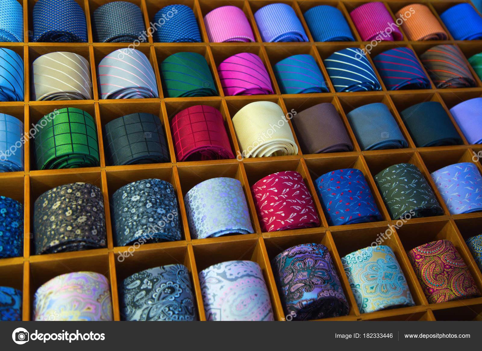 a118659e884a Colorful tie collection — Stock Photo © swisshippo #182333446