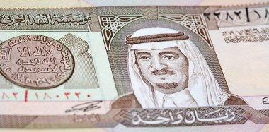 Colourful Saudi Arabia Riyal banknote