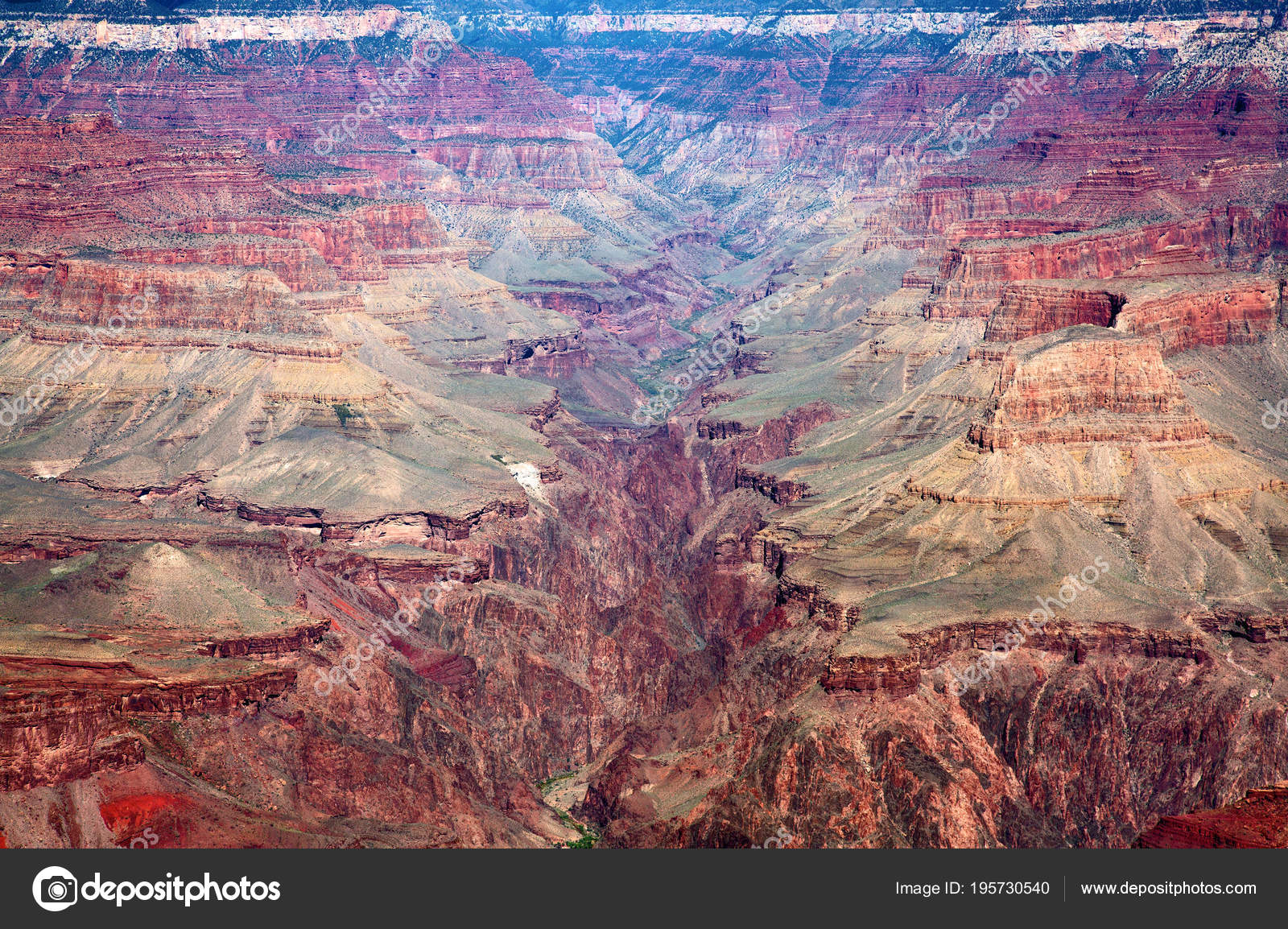 South Rim Grand Canyon National Park Arizona Usa Stock