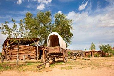 Historial outpost of Wild West Pioneers on border between Arizona and Utah.