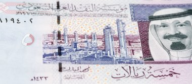 Colourful Saudi Arabia Riyal banknote