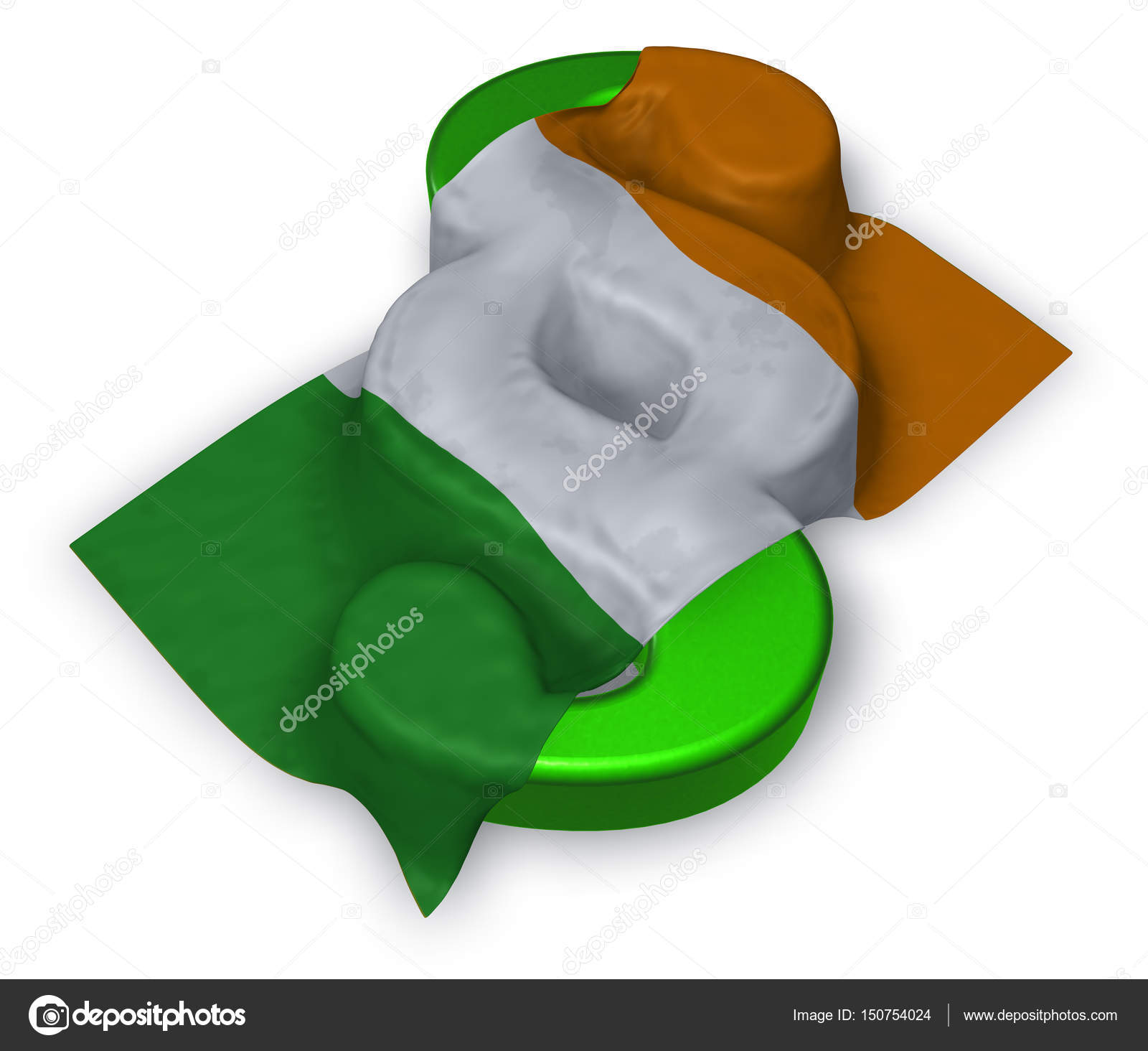 efd004a0a3b98 paragraph symbol and irish flag - 3d illustration — Stock Photo ...
