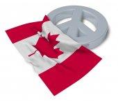 symbol míru a vlajka Kanady - 3d vykreslování