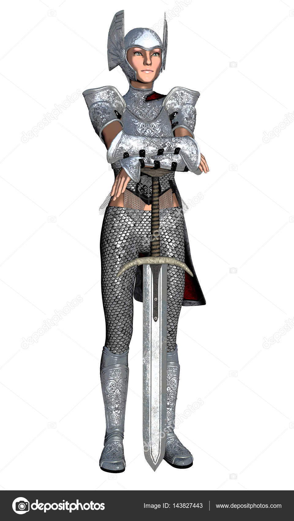 female knight guard stock photo surovtseva 143827443