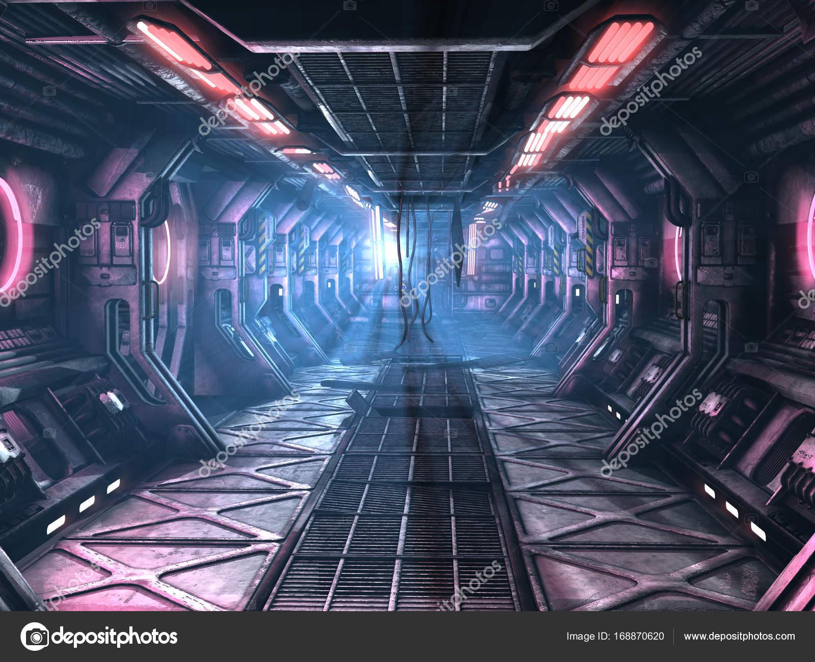 sci fi damaged corridor stock photo surovtseva 168870620