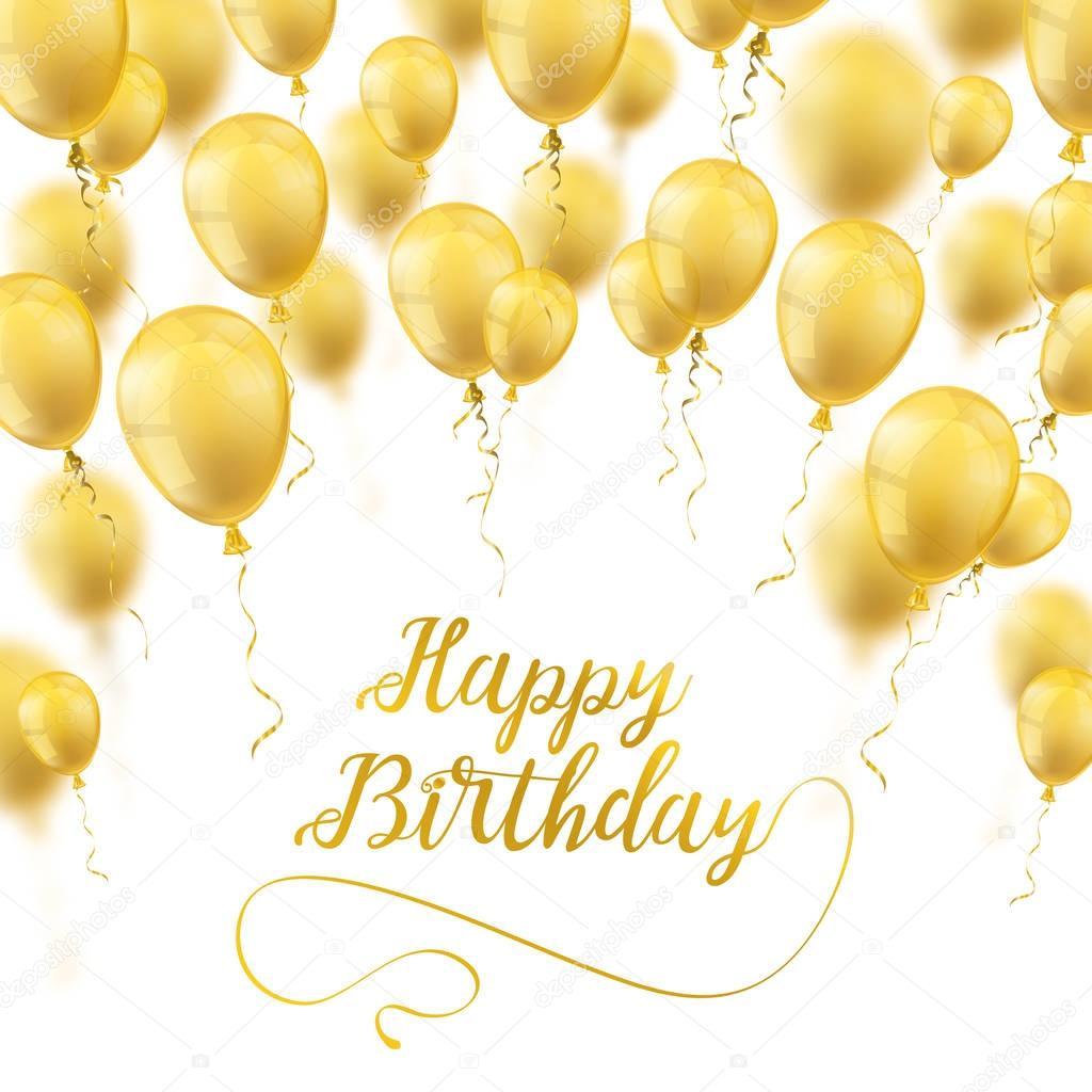 Goldene Ballons Decken Alles Gute Zum Geburtstag