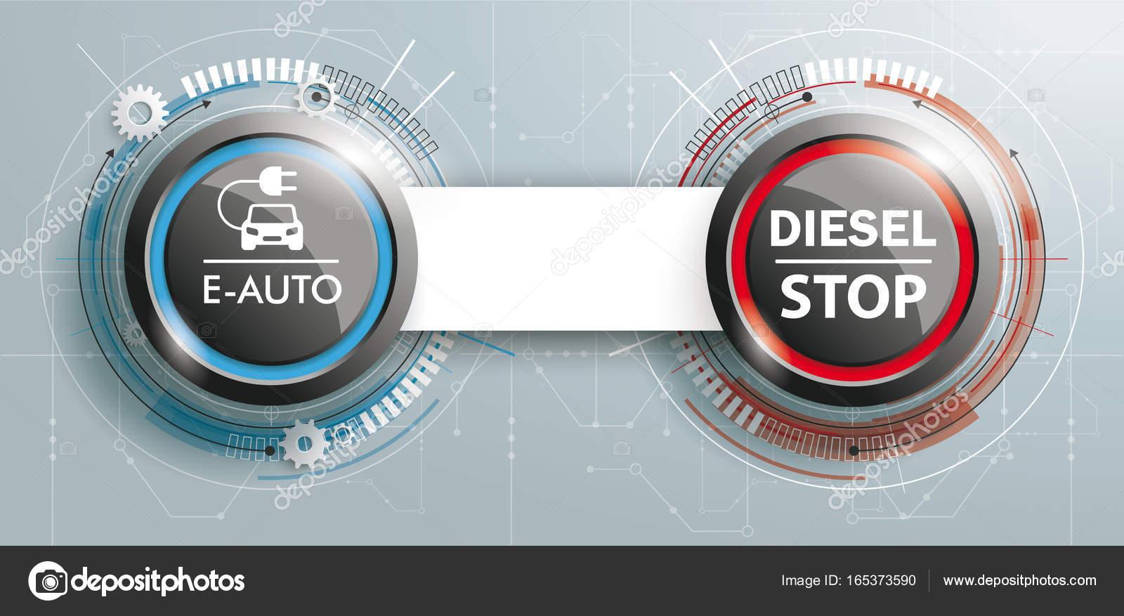 Futuristische Elektroauto und Diesel Stop — Stockfoto © limbi007 ...