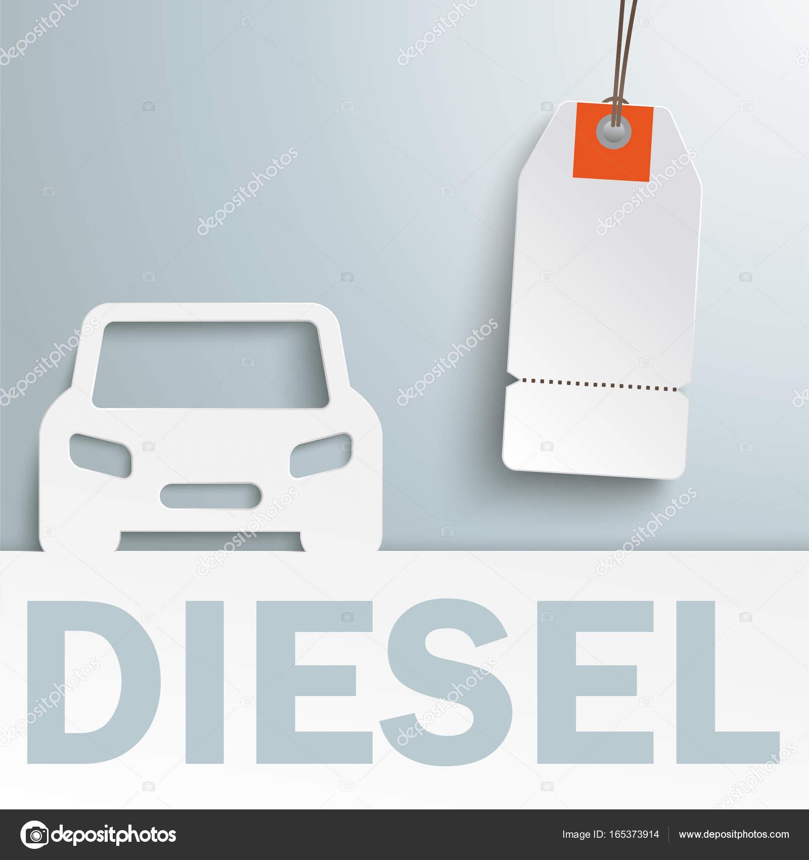 Diesel Auto Abdeckung Preis Aufkleber Stockfoto C Limbi007 165373914