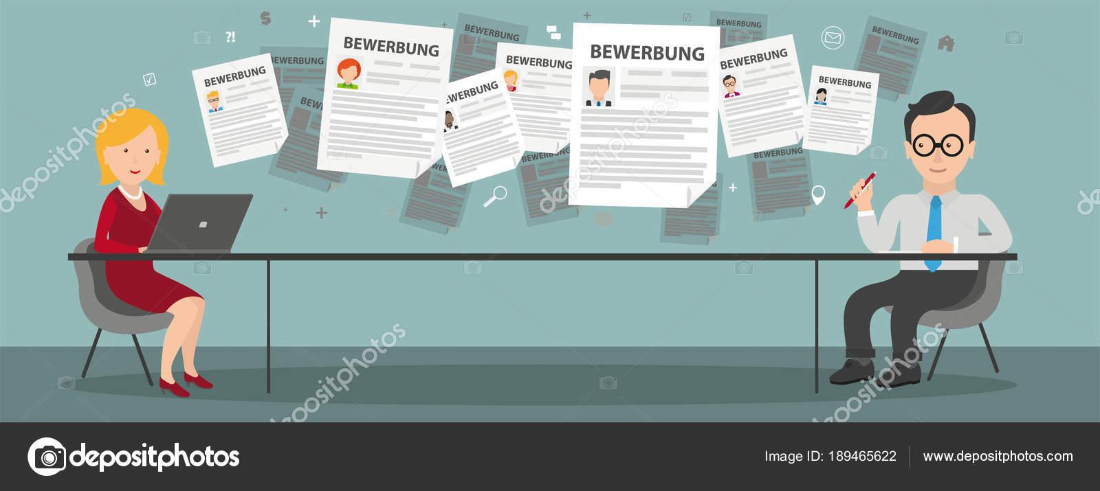 deutsche bersetzung bewerbung anwendung eps vektor file file stockvektor - Bewerbung Ubersetzung