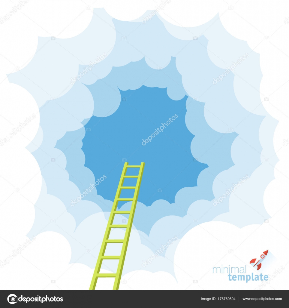 ladder to the sky vector template stock vector mustahtar