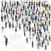 Isometrica folla della gente.