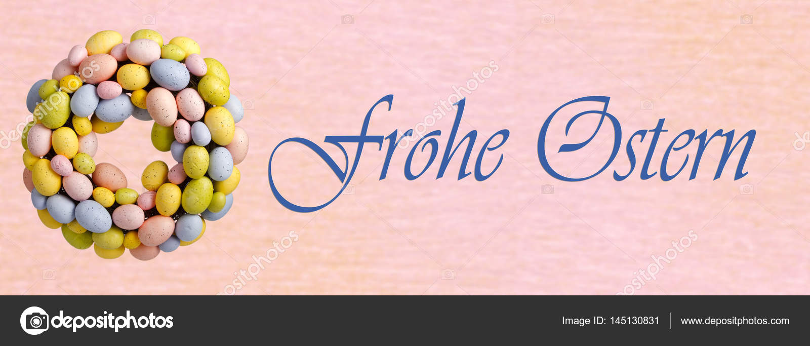 Easter Greetings In German Language Stock Photo Colour 145130831