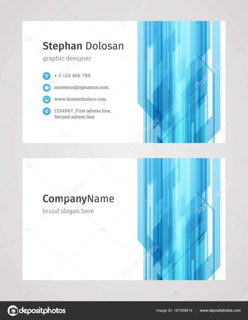 Kreative Visitenkarten Vorlage Modern Und Sauber Design