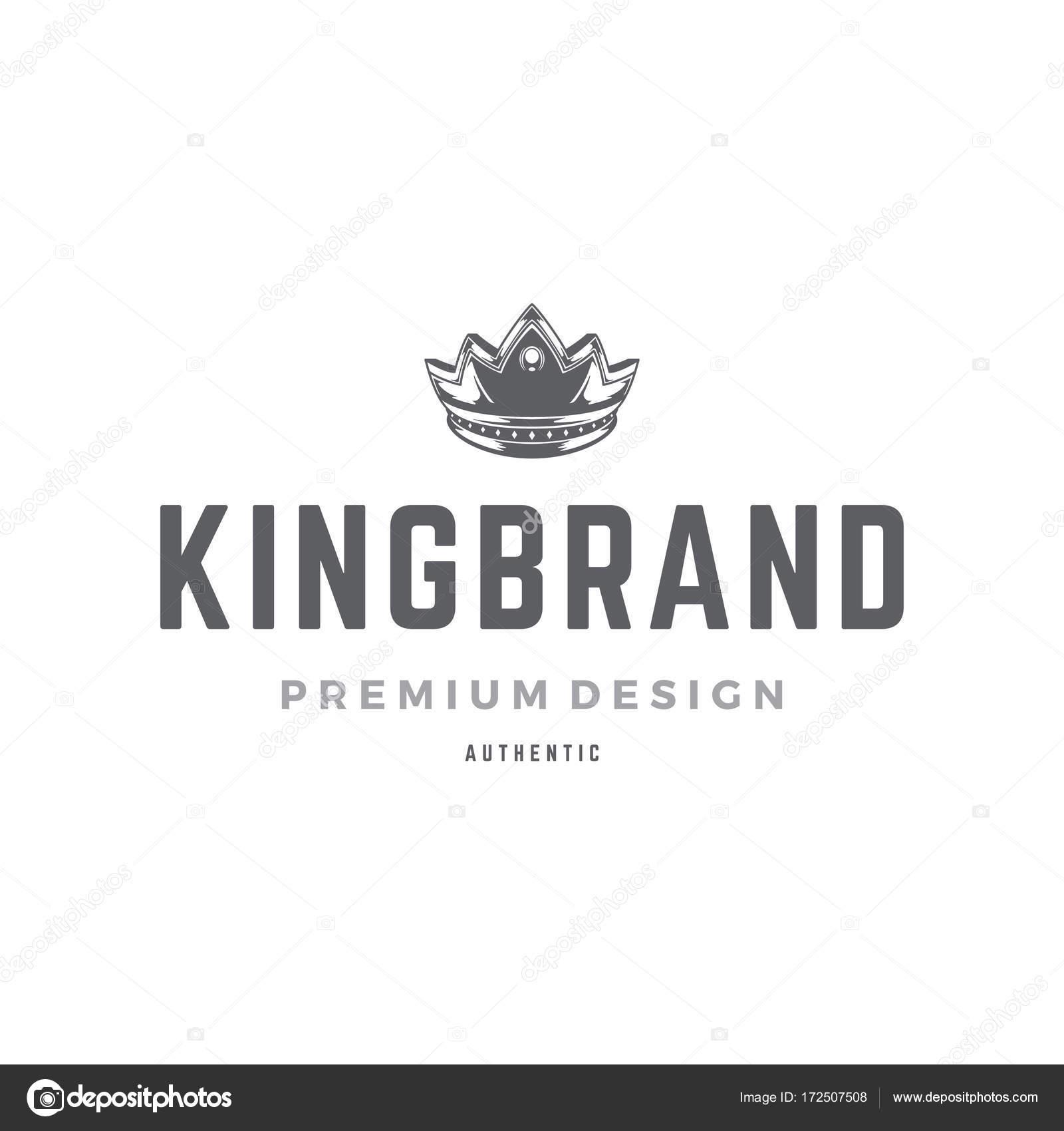 Plantilla de logotipo de corona de rey — Archivo Imágenes ...