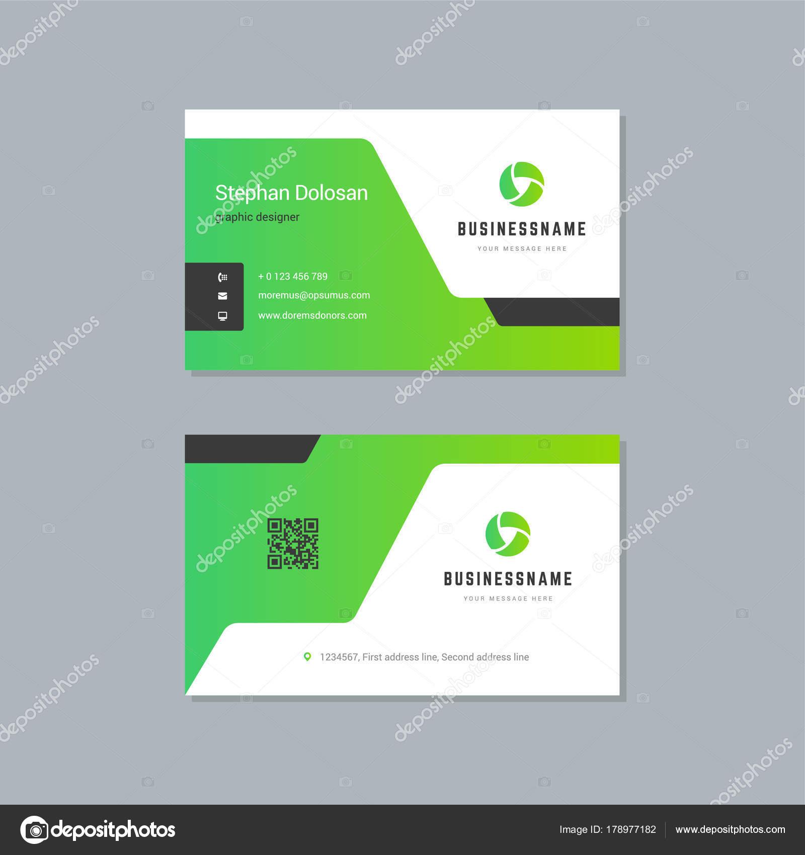 Business card design template abstract modern corporate branding ...