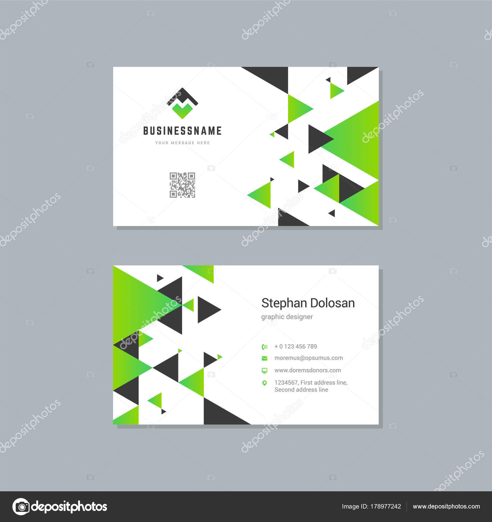 Business card design template abstract modern corporate branding business card design template abstract modern corporate branding style vector illustration stock vector reheart Image collections