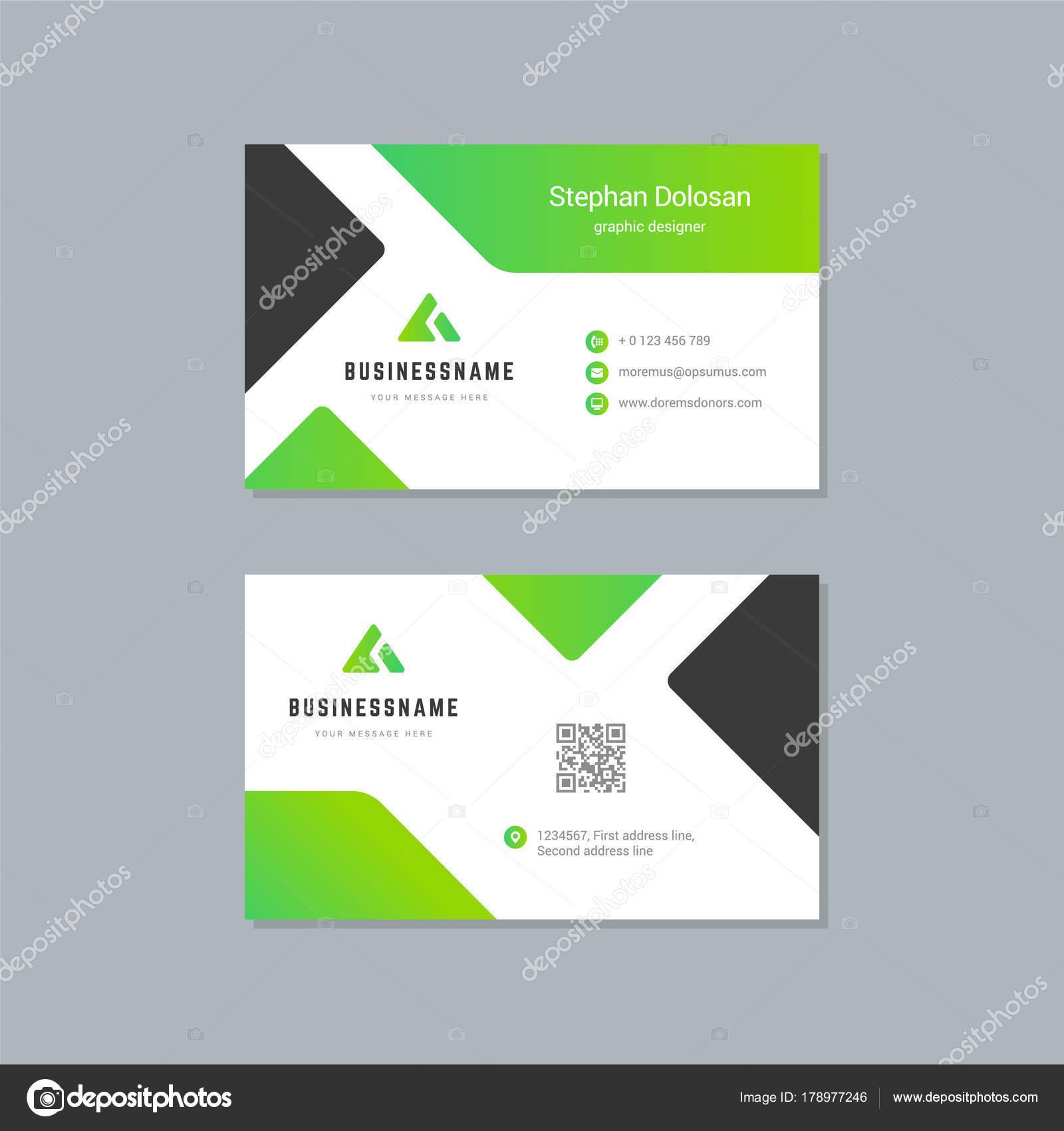 Carte De Visite Design Modle Abstrait Moderne Corporate Branding Style Vecteur Illustration Image Vectorielle