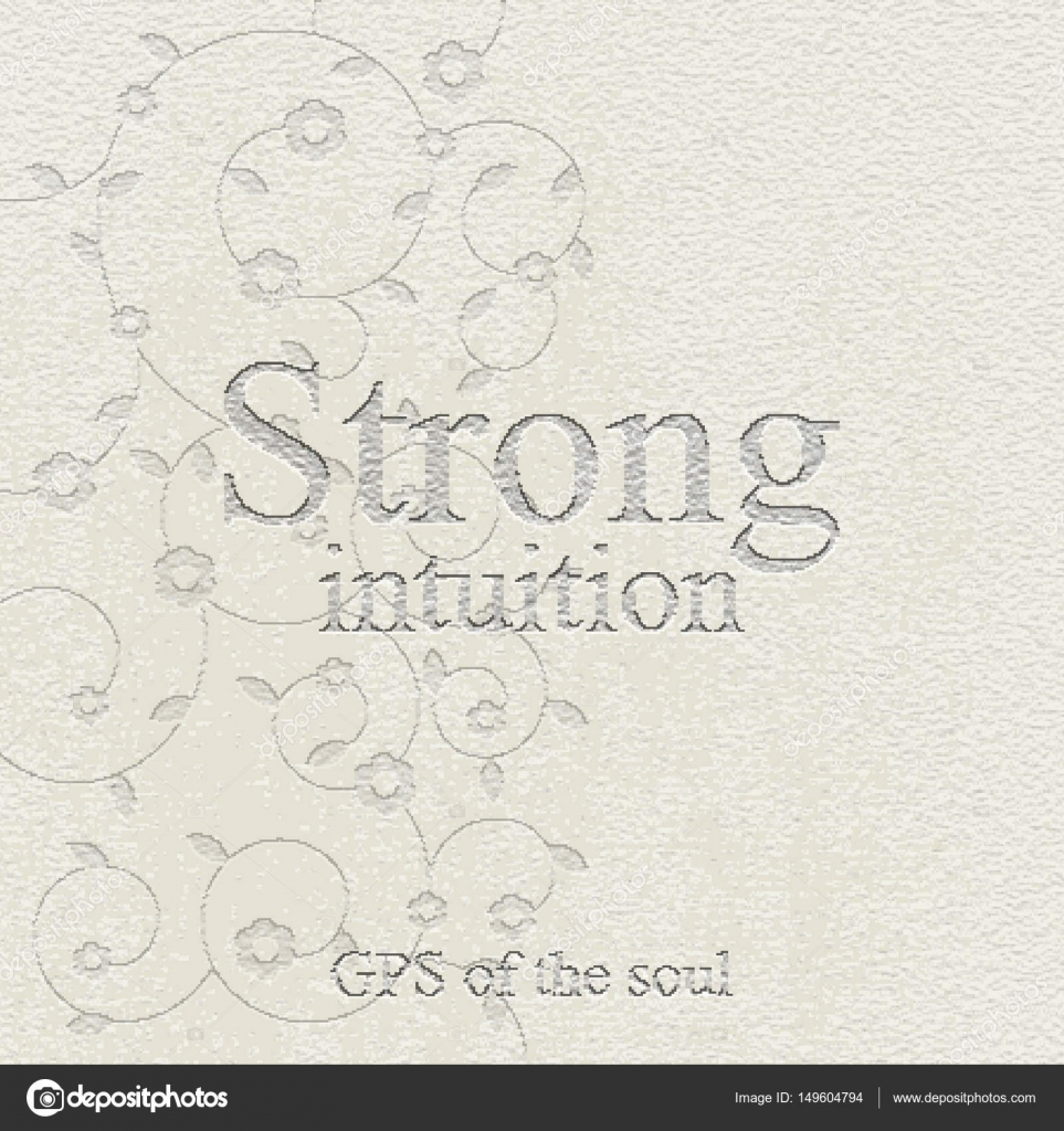 Strong intuition - gps of the soul  Quote  Stone engraving - sto