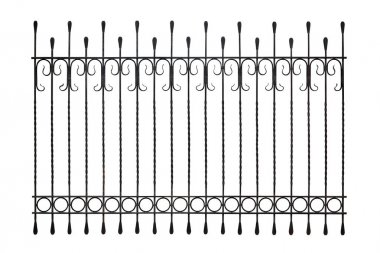 Modern wrought iron fence.