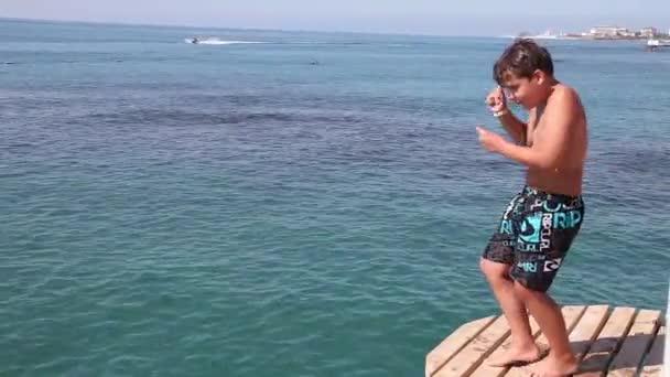 Hoch skočil z moře mola