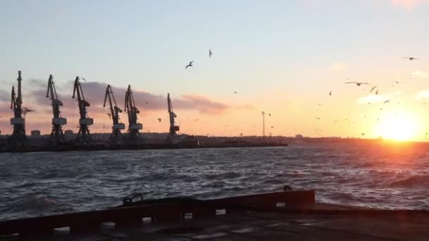 nákladní jeřáby v přístavu