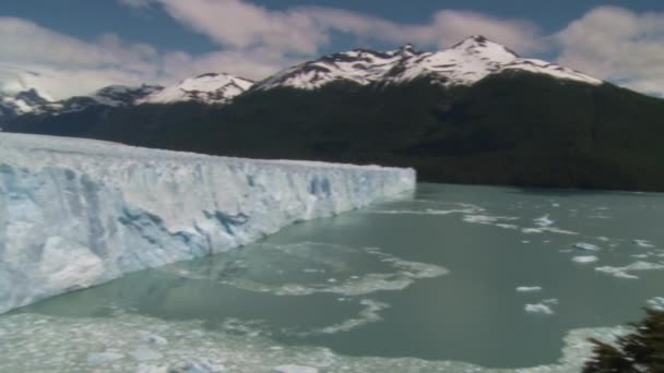 Panoramic view of Perito Moreno glacier in Argentina
