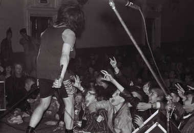 A concert of the punk group