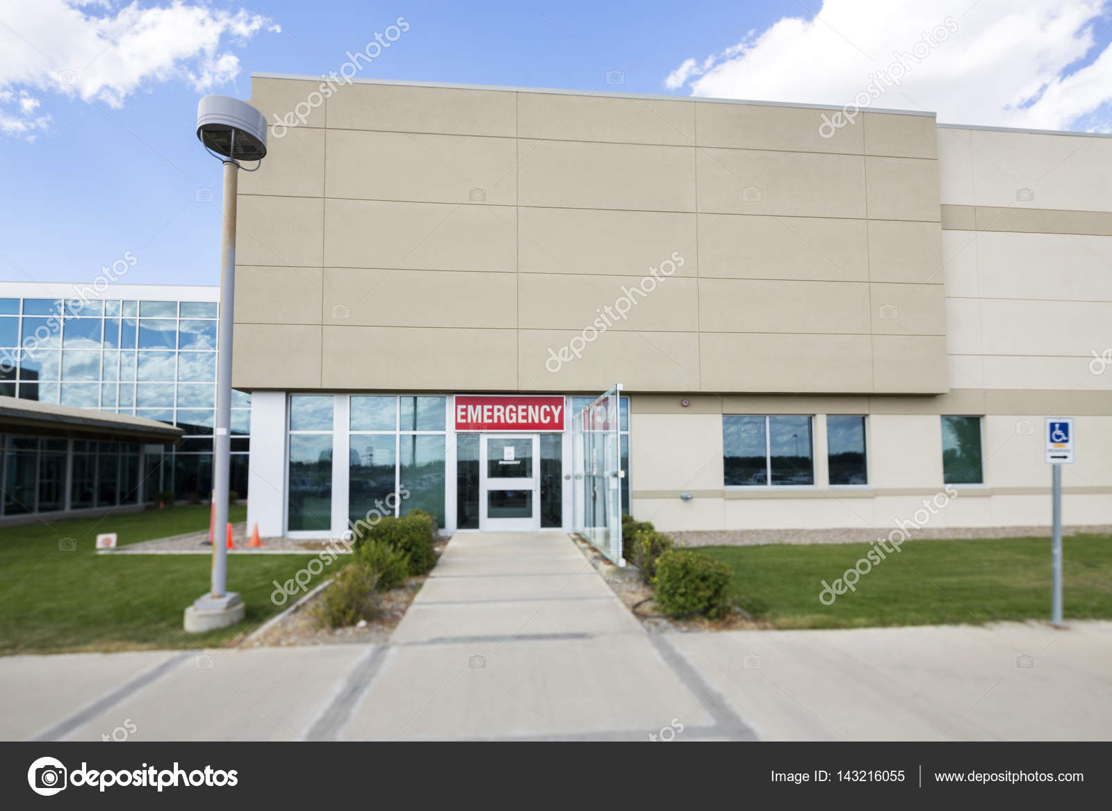Hospital building with emergency entrance stock photo simplefoto hospital building with emergency entrance stock photo altavistaventures Image collections