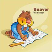 Kreslený Bobr číst stavební výkresy