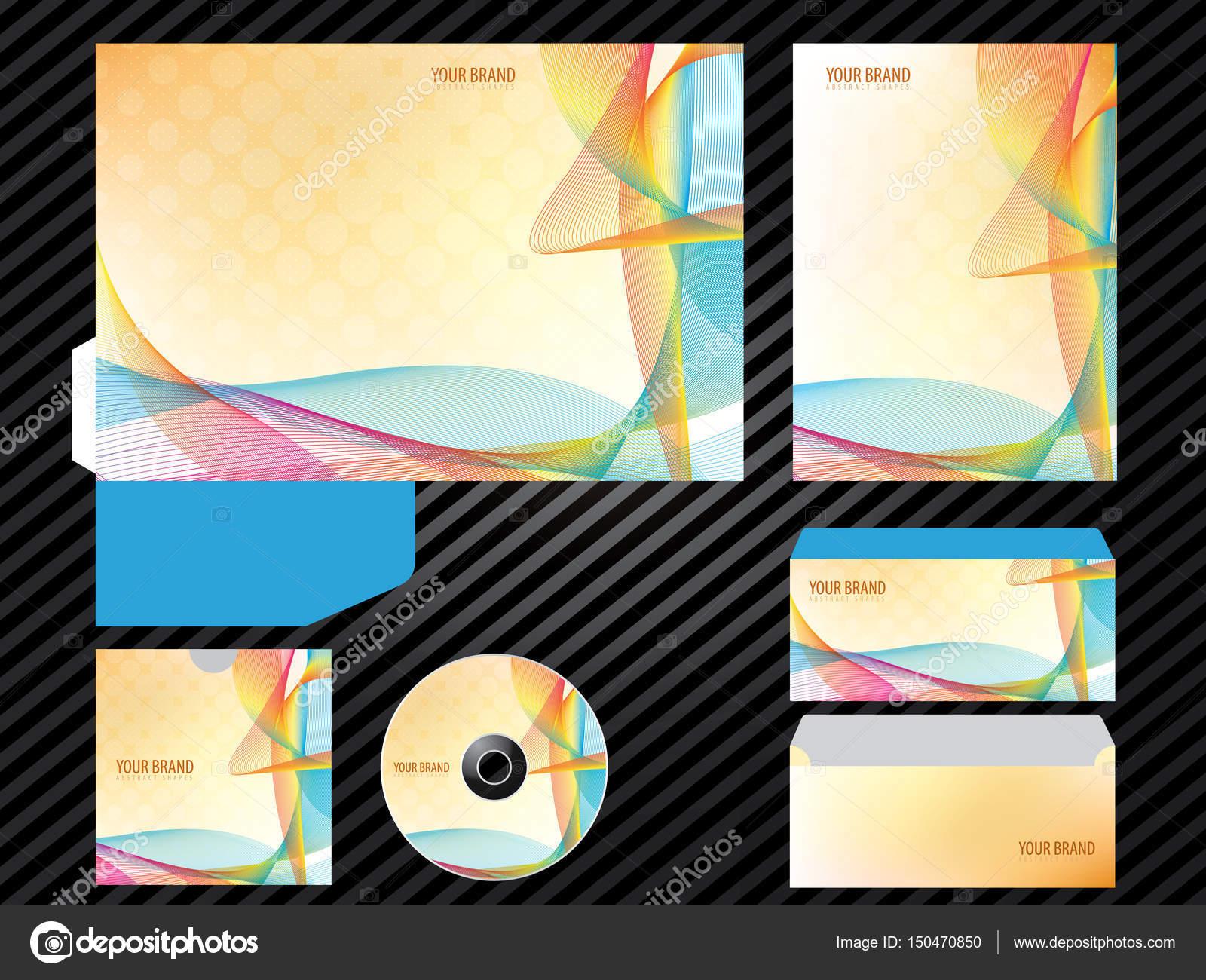 CI-Vorlage Business Design orange Farbe set Briefpapier ...