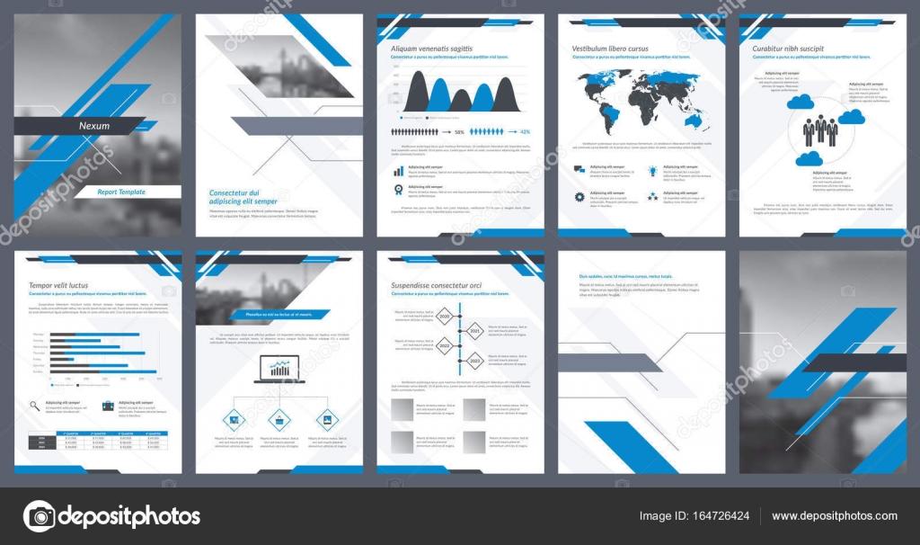 Elementos de infografía para la plantilla de informes y plantillas ...