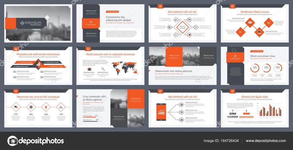 Elemente der Infografiken für Präsentationen Vorlagen — Stockvektor ...