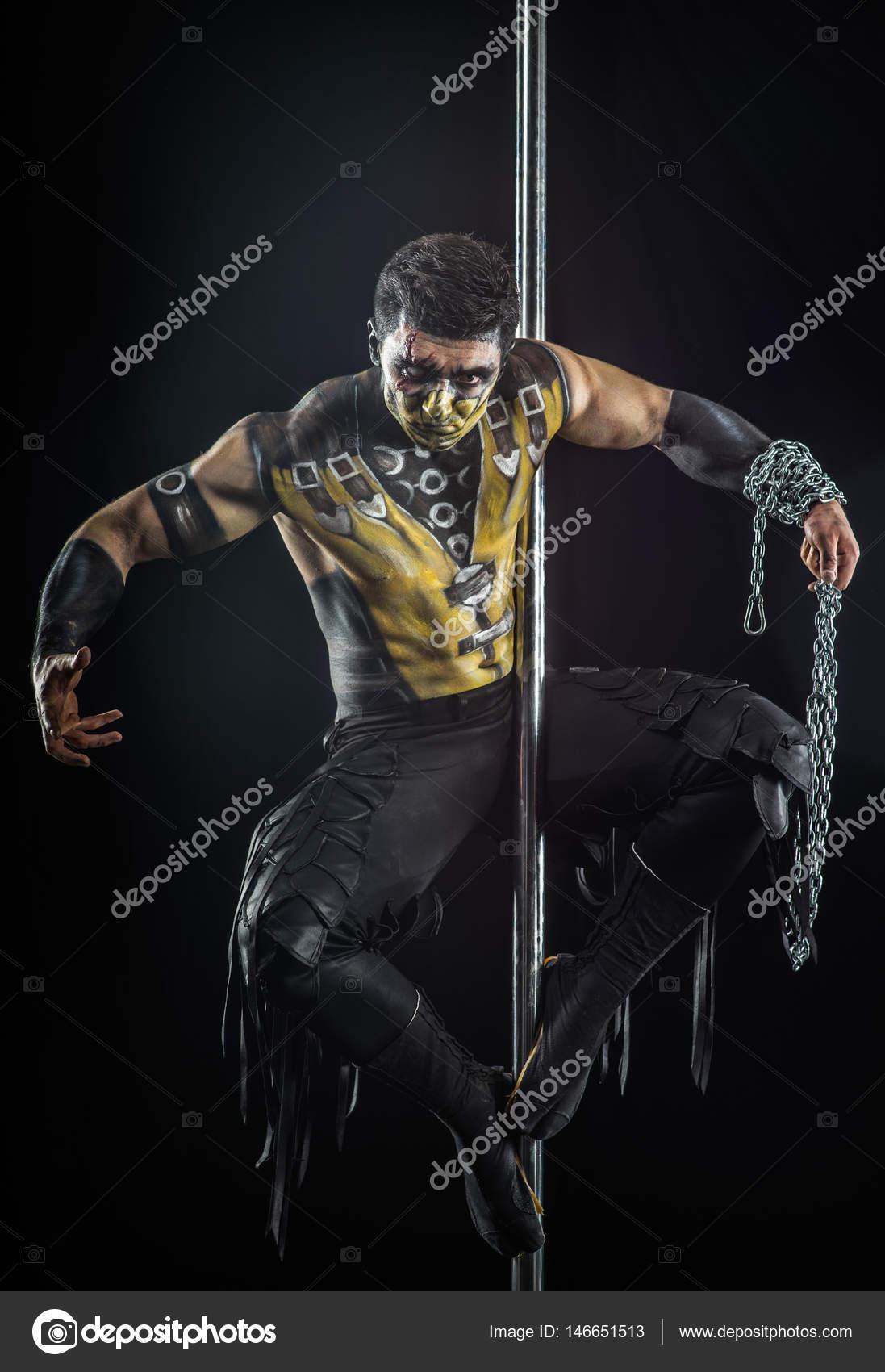 On the pole bodyart Scorpion — Stock Photo © butoc_89@mail