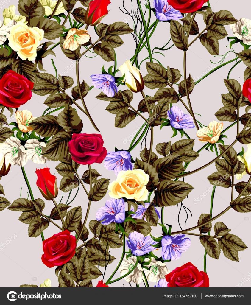 Papier Peint Classique Sans Couture Vintage Fleur Modele Image