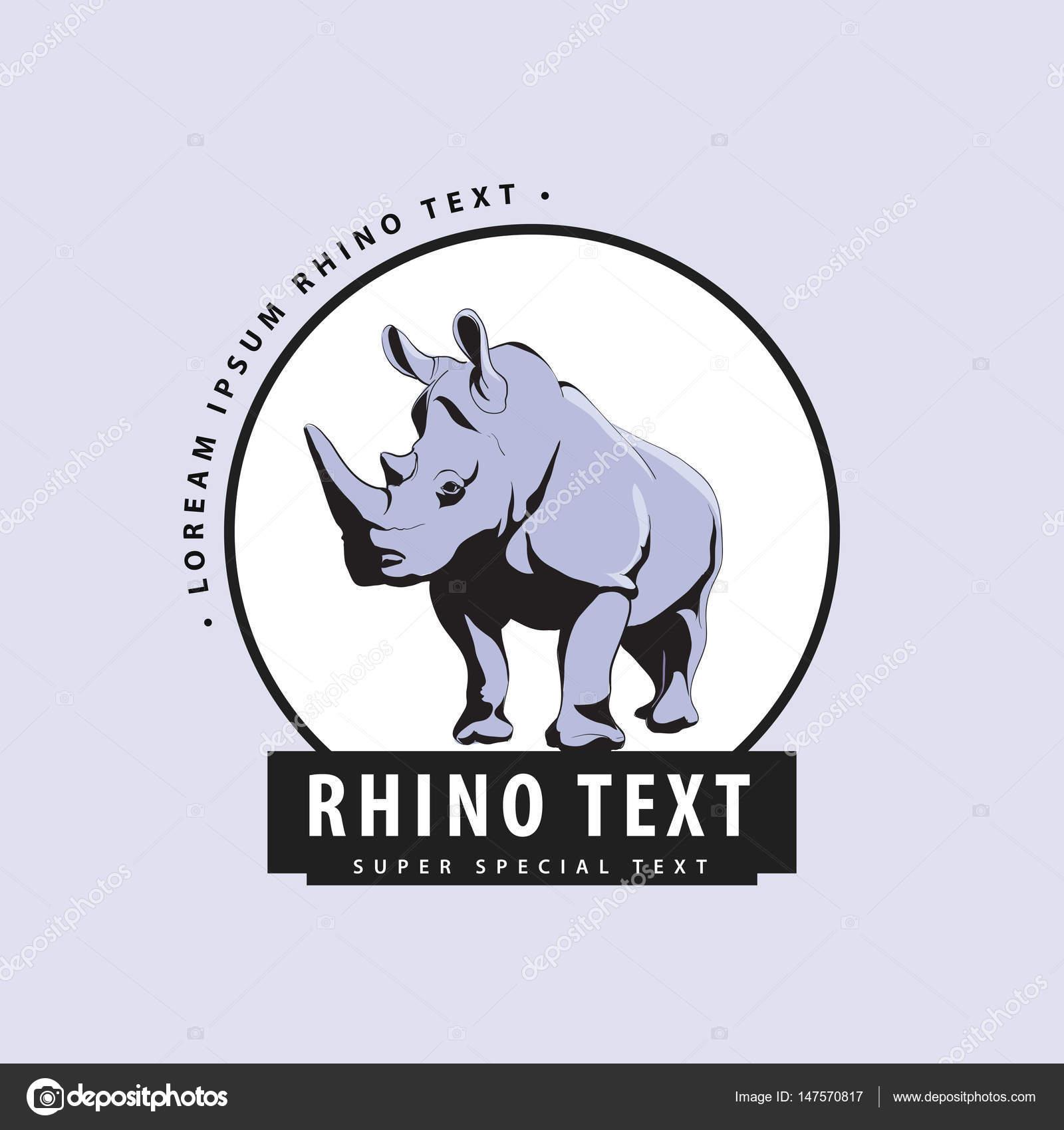 Rhino Logo Fashion Designer Designer Logo With Rhinoceros On A Blue Background Stock Vector C Chisnikov 147570817