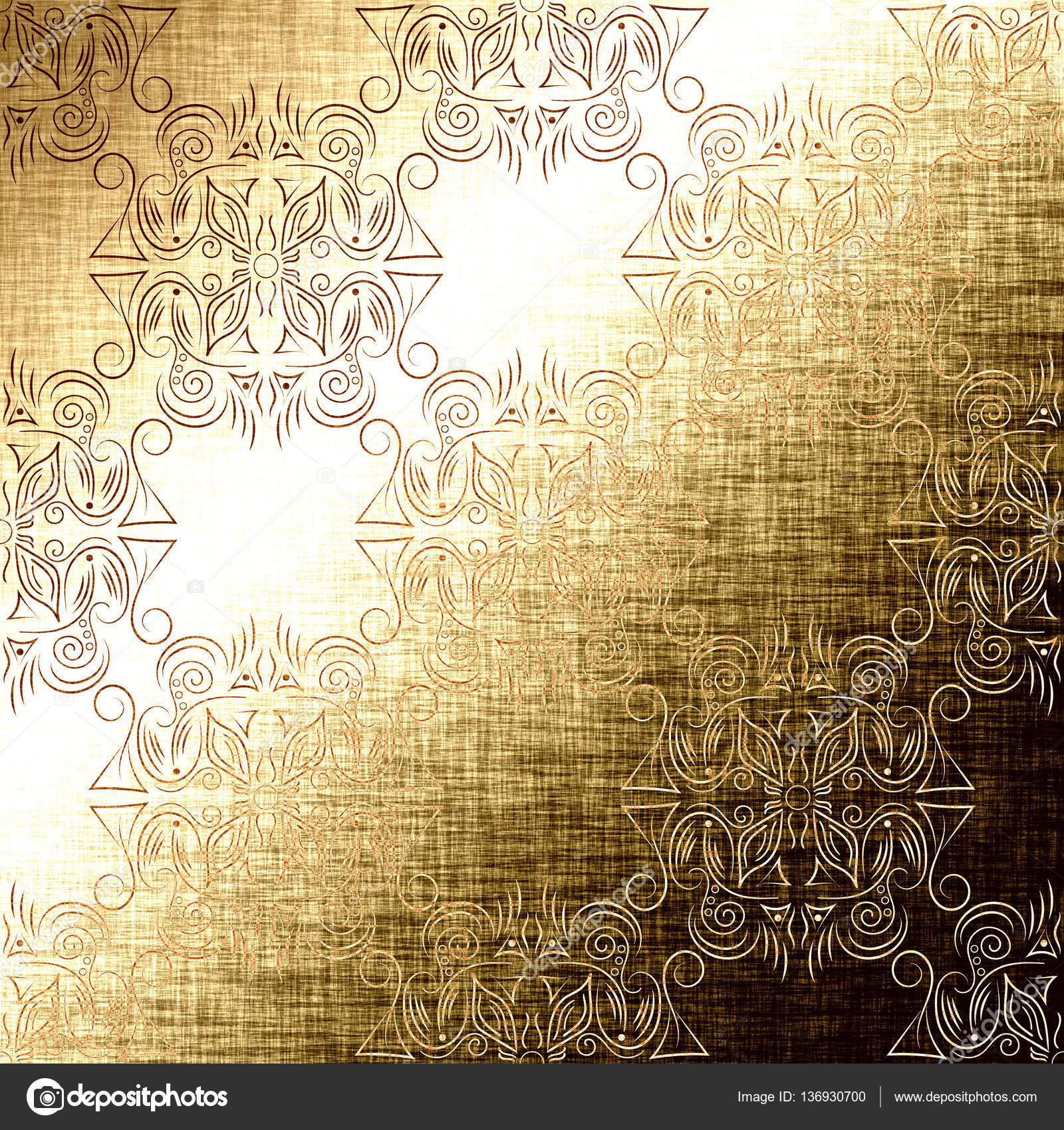Gold Aztec And Mayan Pattern With Indian Traditional Elements Golden Foil Royal Texture For Textile Wallpapers Page Fill Book Covers Etc