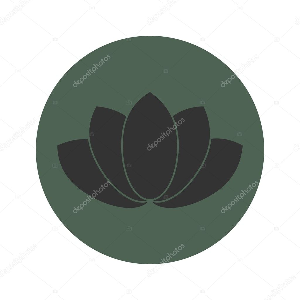 Lotus Flower Symbol Stock Vector Jegasra 126880548