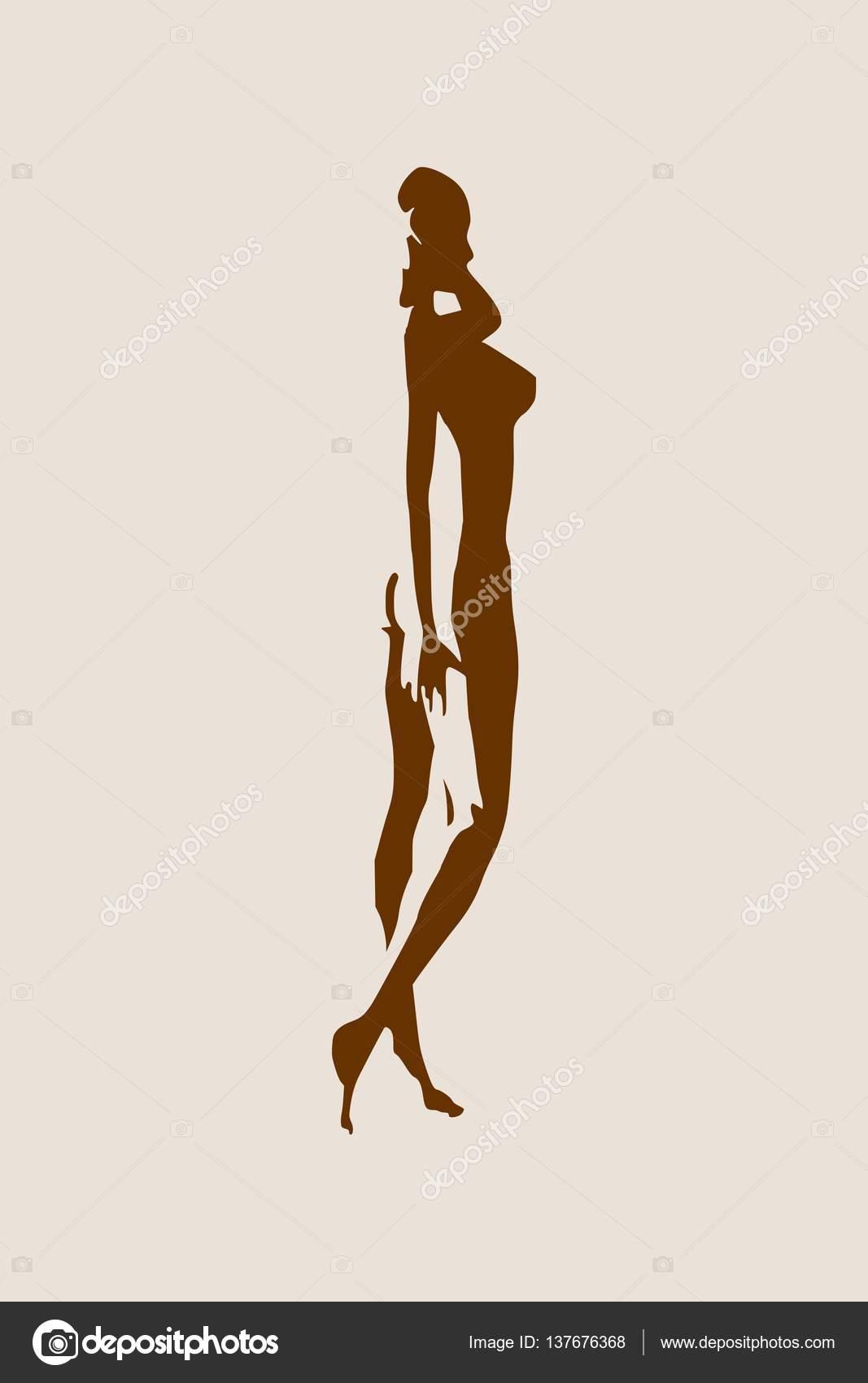 Сексуальные женские силуэты