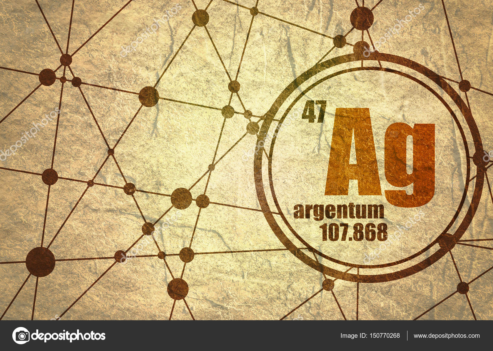 Silver chemical element stock photo jegasra 150770268 silver chemical element sign with atomic number and atomic weight chemical element of periodic table molecule and communication background urtaz Image collections