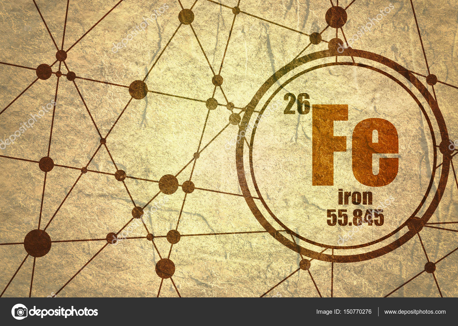 Iron chemical element stock photo jegasra 150770276 iron chemical element sign with atomic number and atomic weight chemical element of periodic table molecule and communication background urtaz Gallery