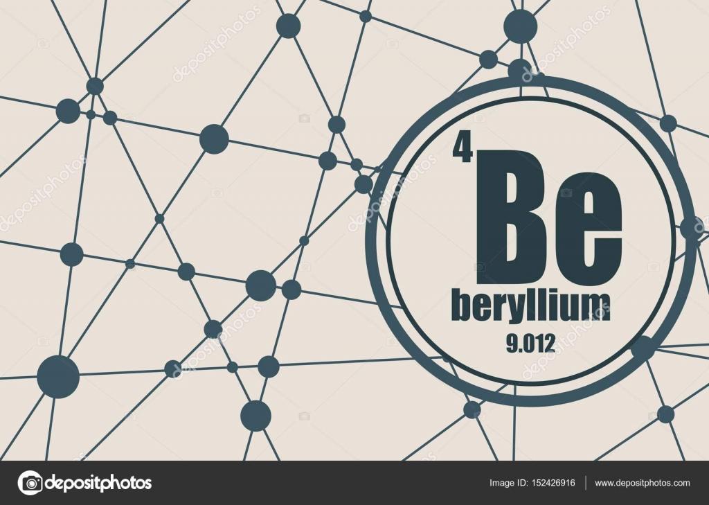 Elemento qumico de berilio vector de stock jegasra 152426916 elemento qumico del berilio firmar con el nmero atmico y peso atmico elemento qumico de tabla peridica molcula y el fondo de la comunicacin urtaz Gallery