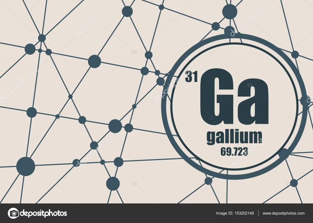 elemento qumico del galio firmar con el nmero atmico y peso atmico elemento qumico de tabla peridica molcula y el fondo de la comunicacin - Tabla Periodica De Los Elementos Galio